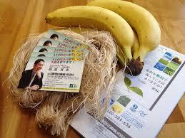 バナナの皮から作られる名刺